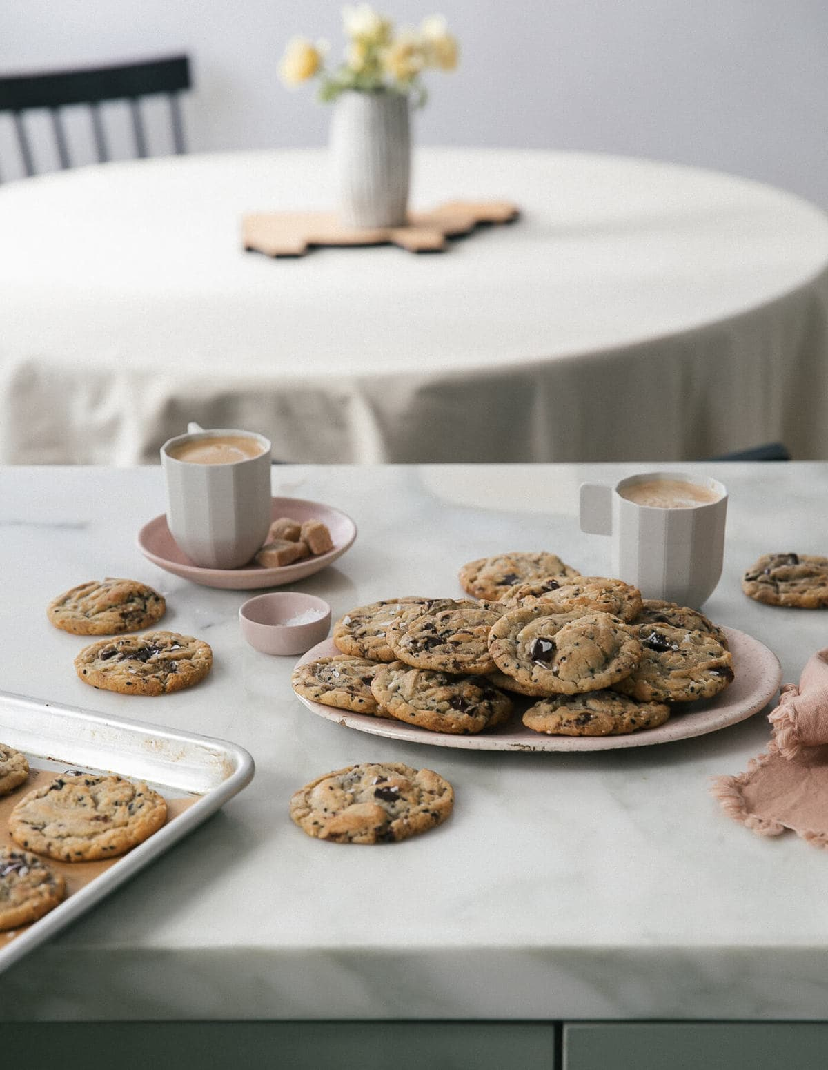 Sesame Chocolate Chip Cookies