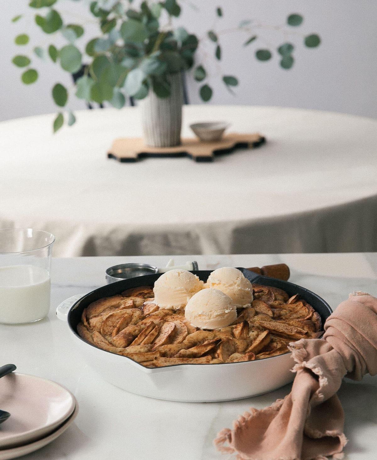 Chai-Spiced Apple Skillet Cake