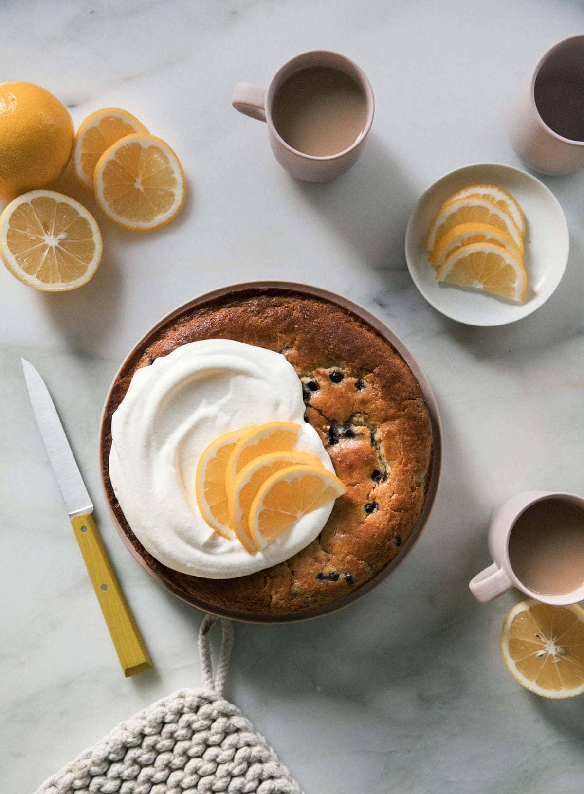 Meyer Lemon Blueberry Cornbread