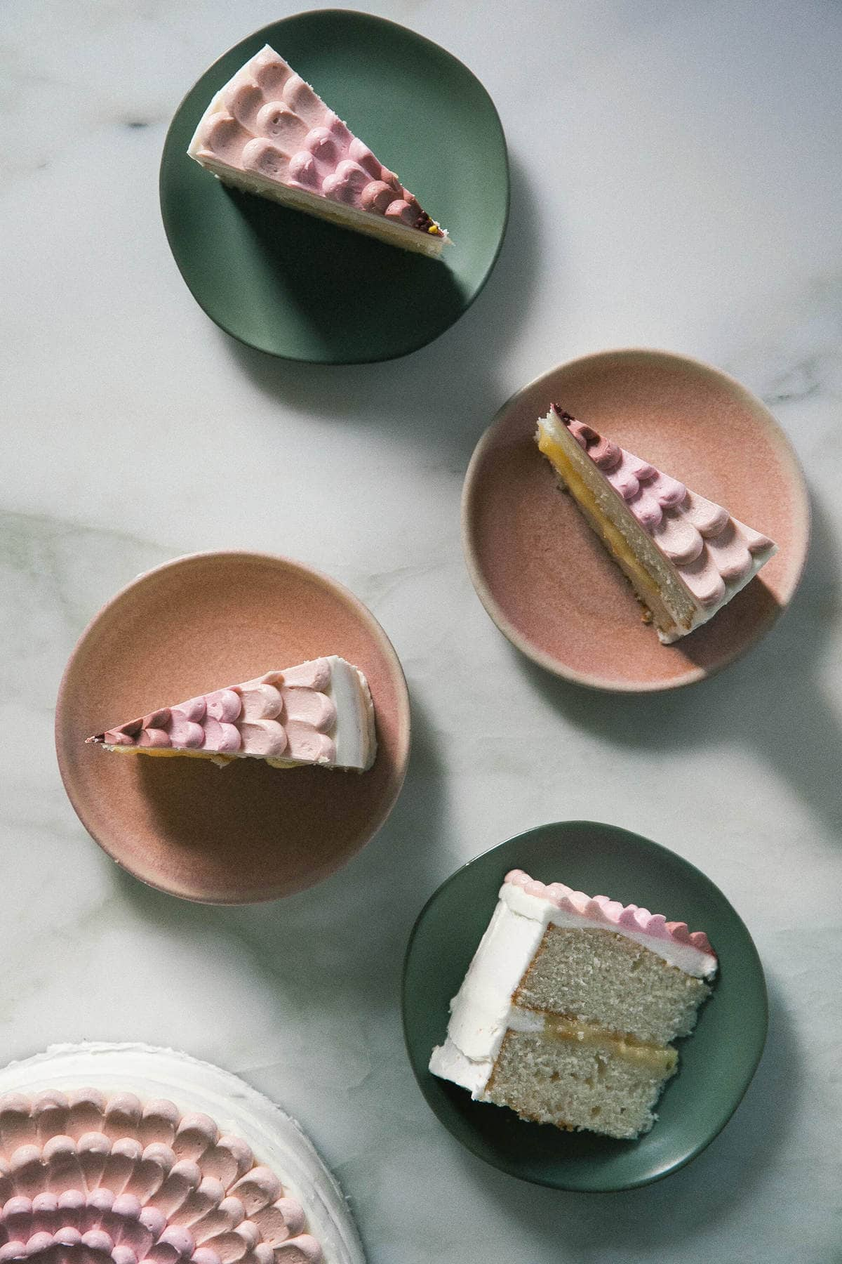 Lemon Coconut Petal Cake