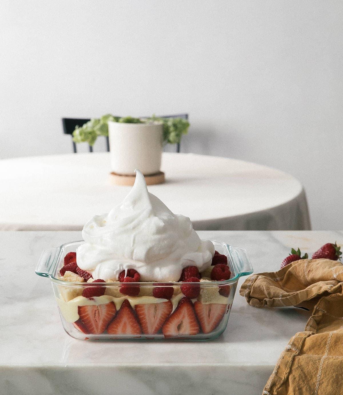 Lemon Berry Meringue Trifle