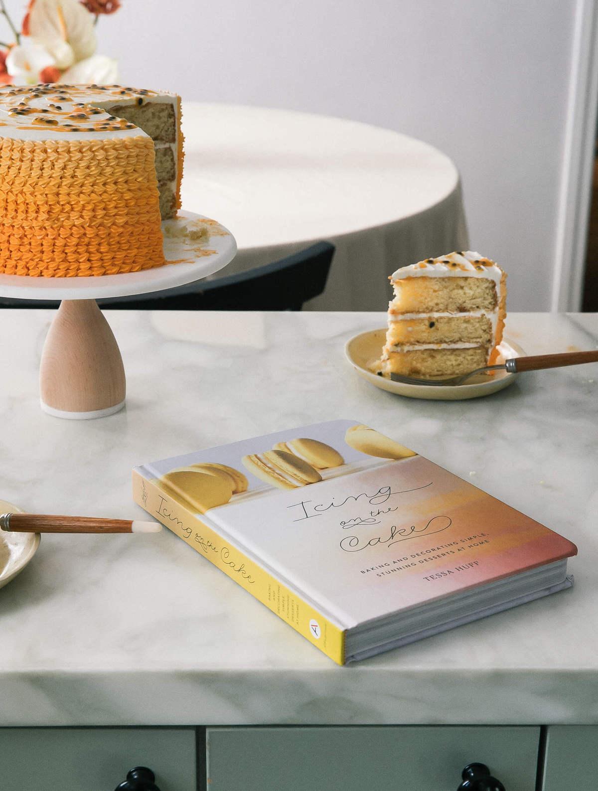 Passionfruit Vanilla Layer Cake