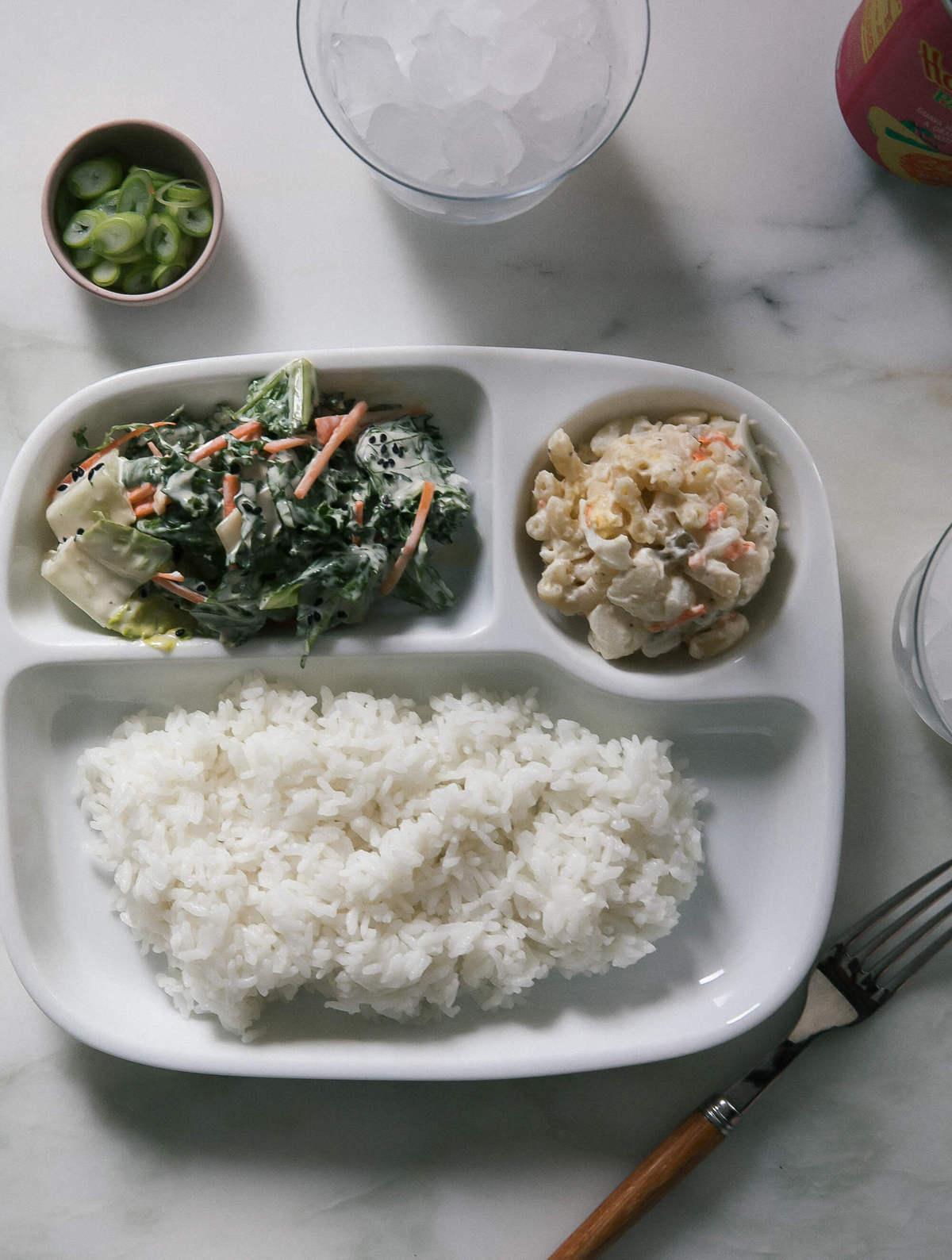Shoyu Chicken with Hawaiian Mac Salad