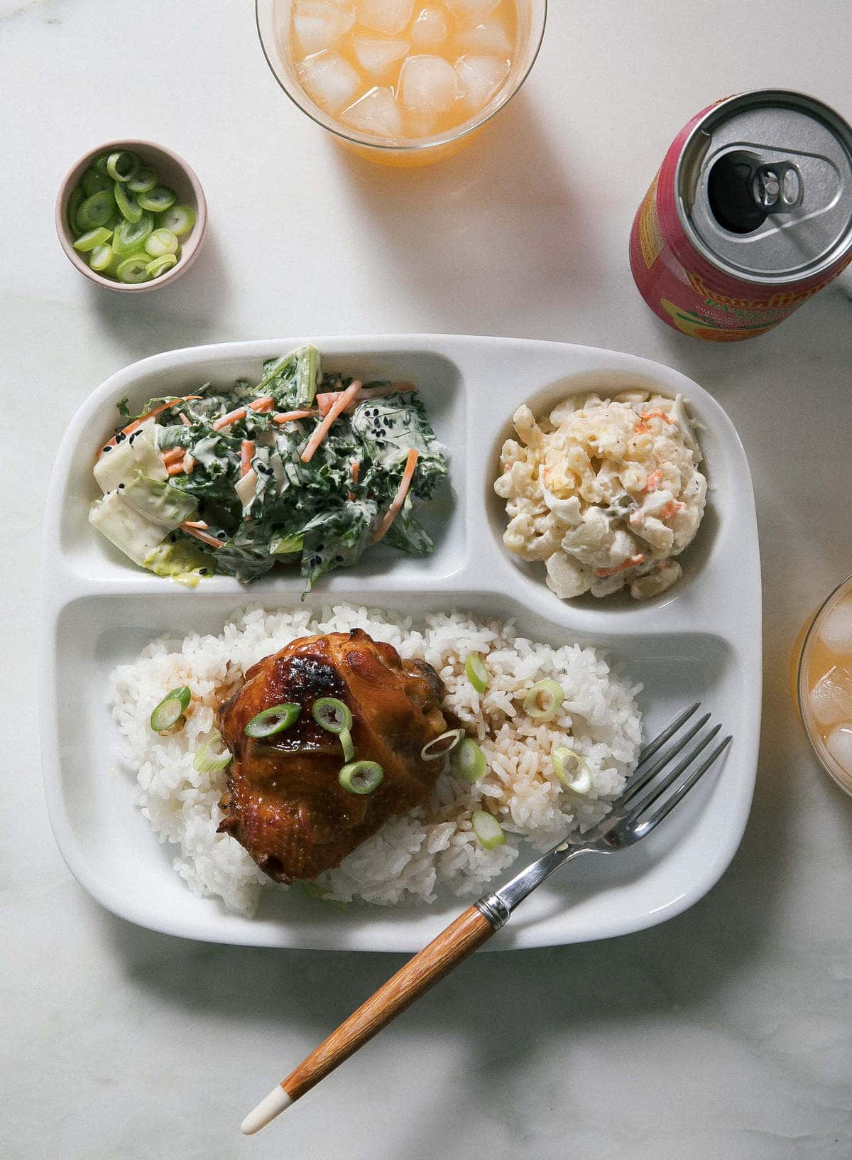 Shoyu Chicken with Hawaiian Mac Salad