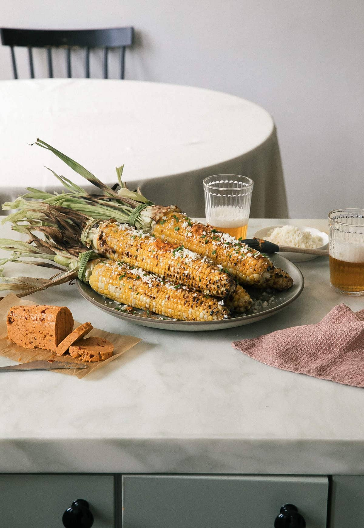 Grilled Corn with Chipotle Bourbon Butter – A Cozy Kitchen