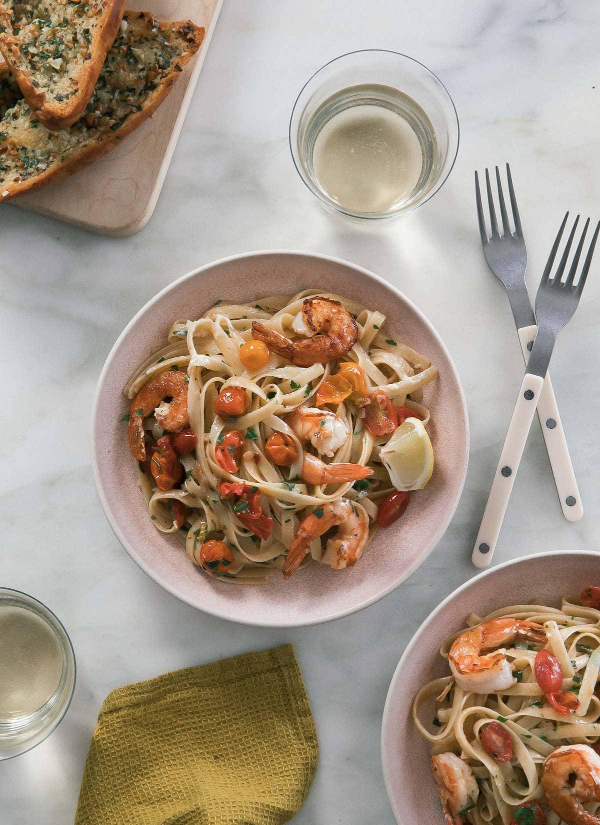 Sungold Tomato Shrimp Scampi