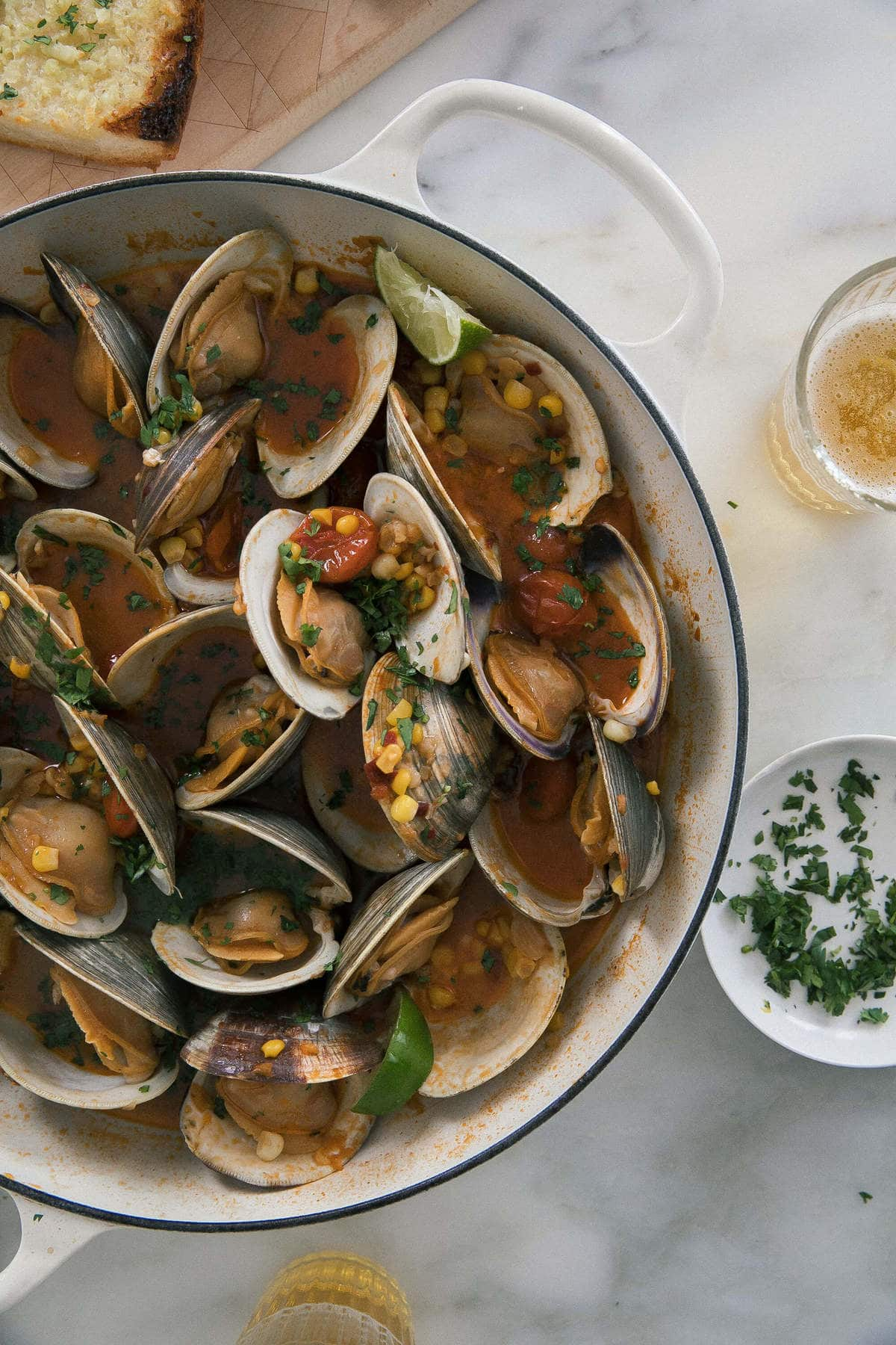 Chipolte Lime Braised Clams