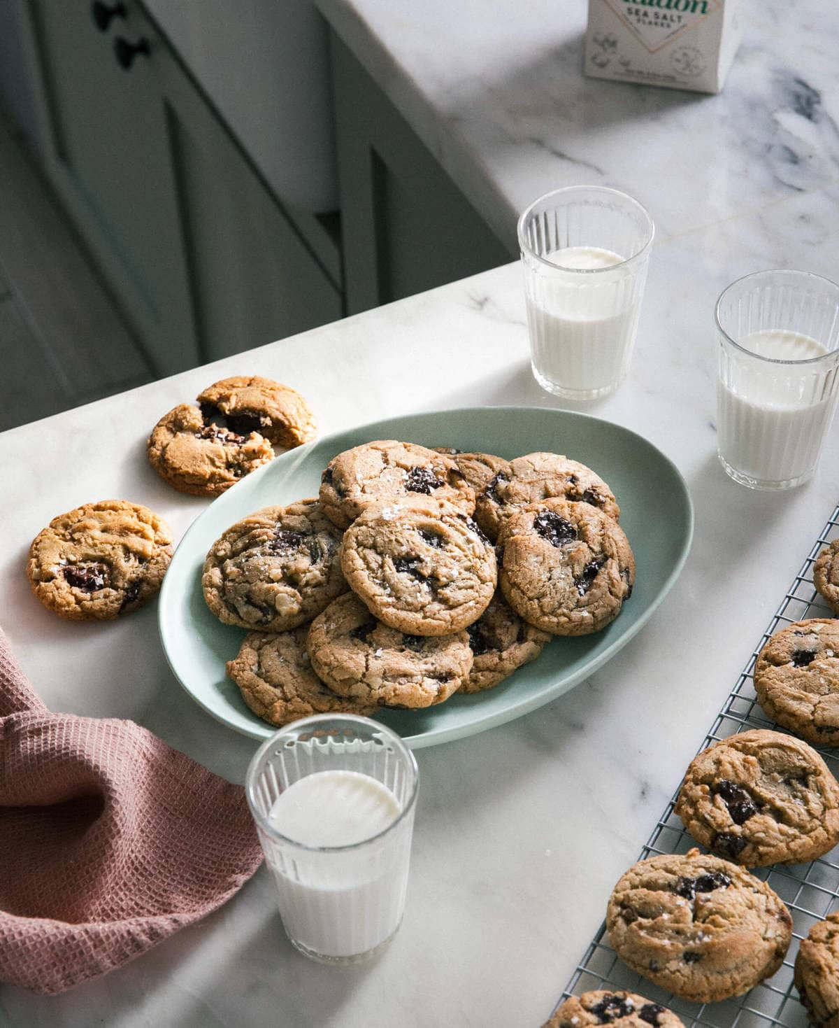 Brown Butter Chocolate Chip Cookies with Walnuts