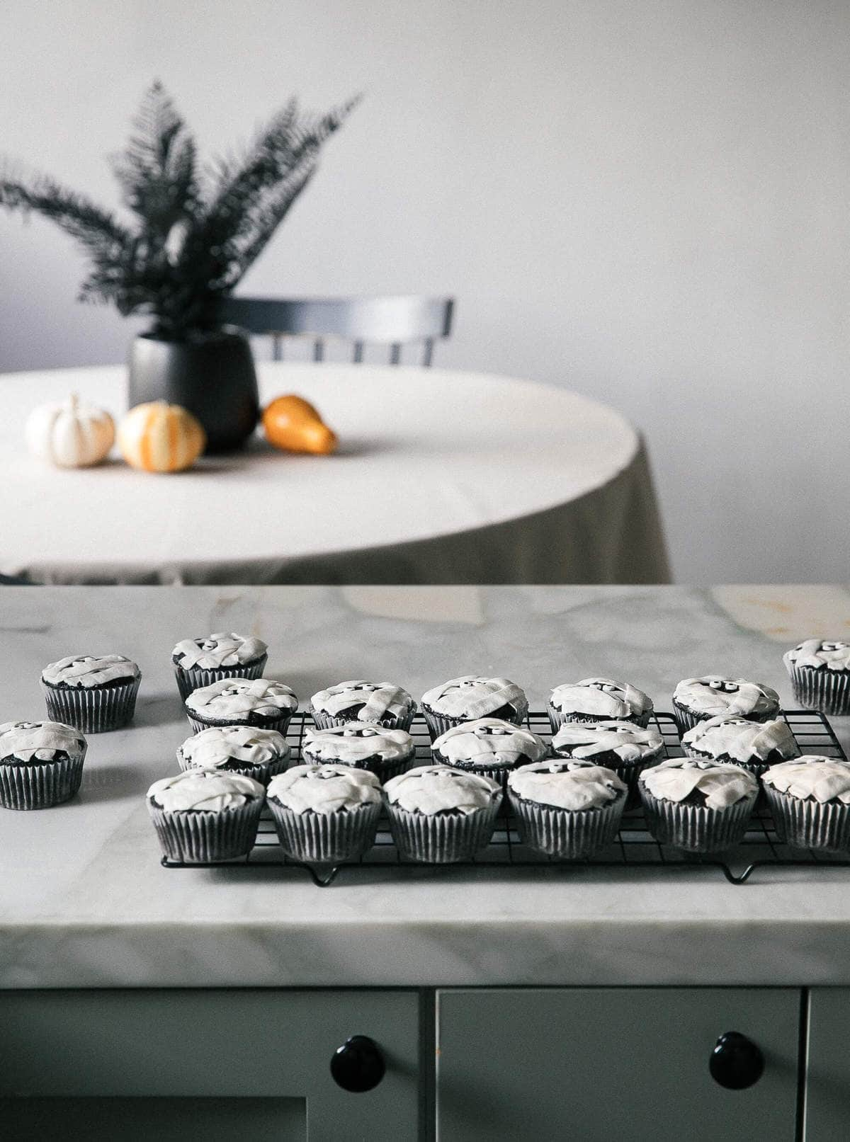 Mummy Dark Chocolate Cupcakes