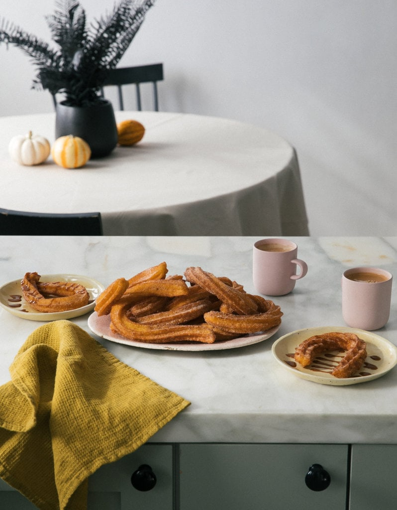 Pumpkin Churro scene on counter
