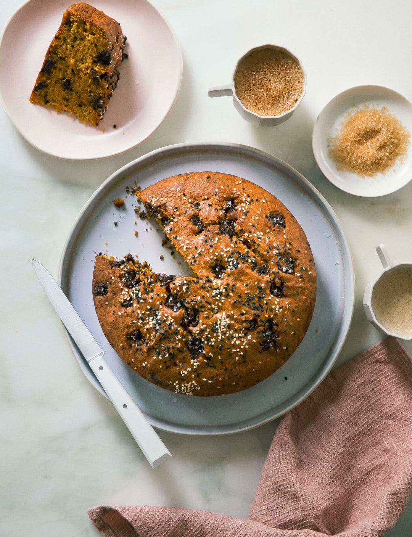 Sesame Pumpkin Chocolate Cake