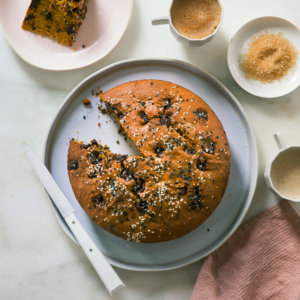 Sesame Pumpkin Chocolate Cake