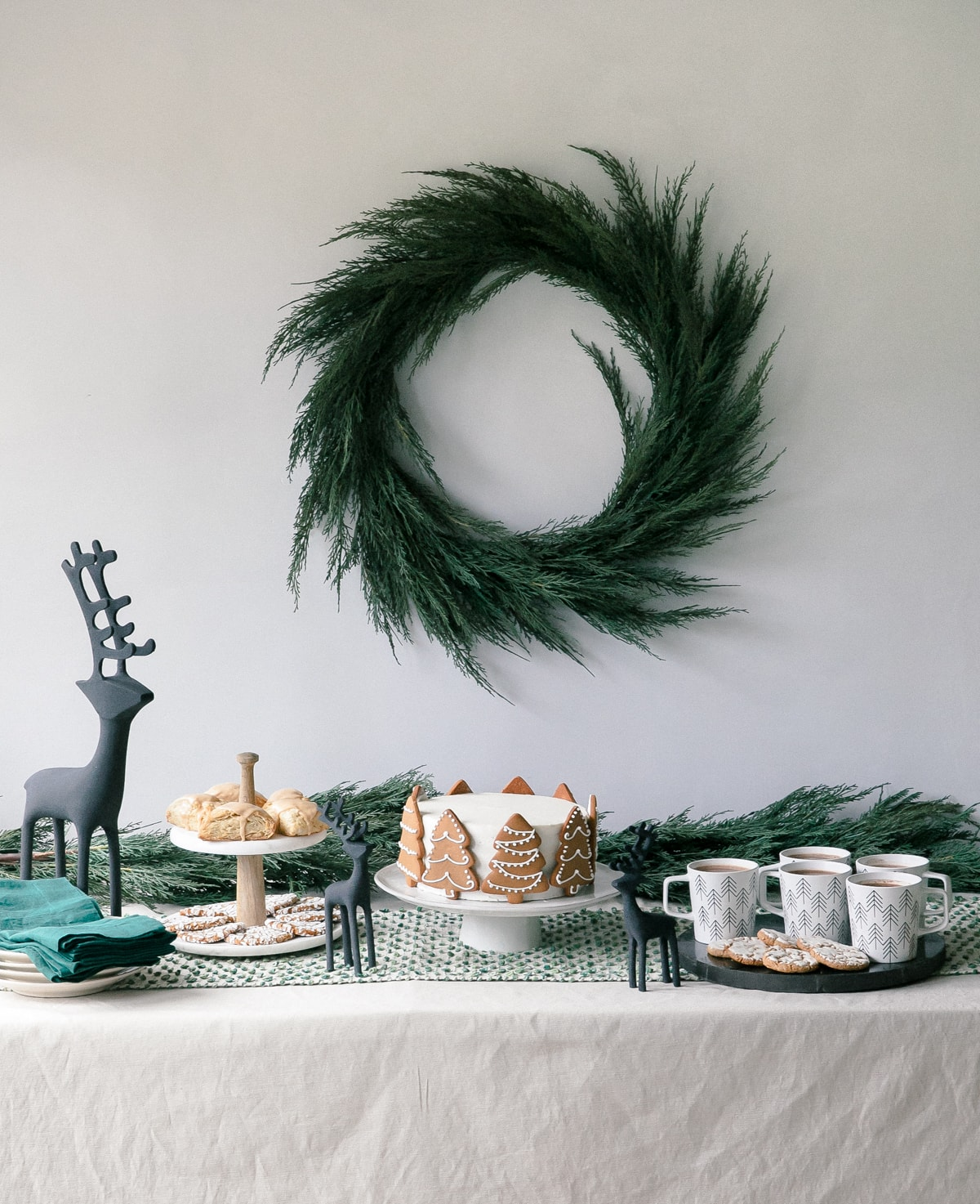 Holiday Dessert Table With Crate And