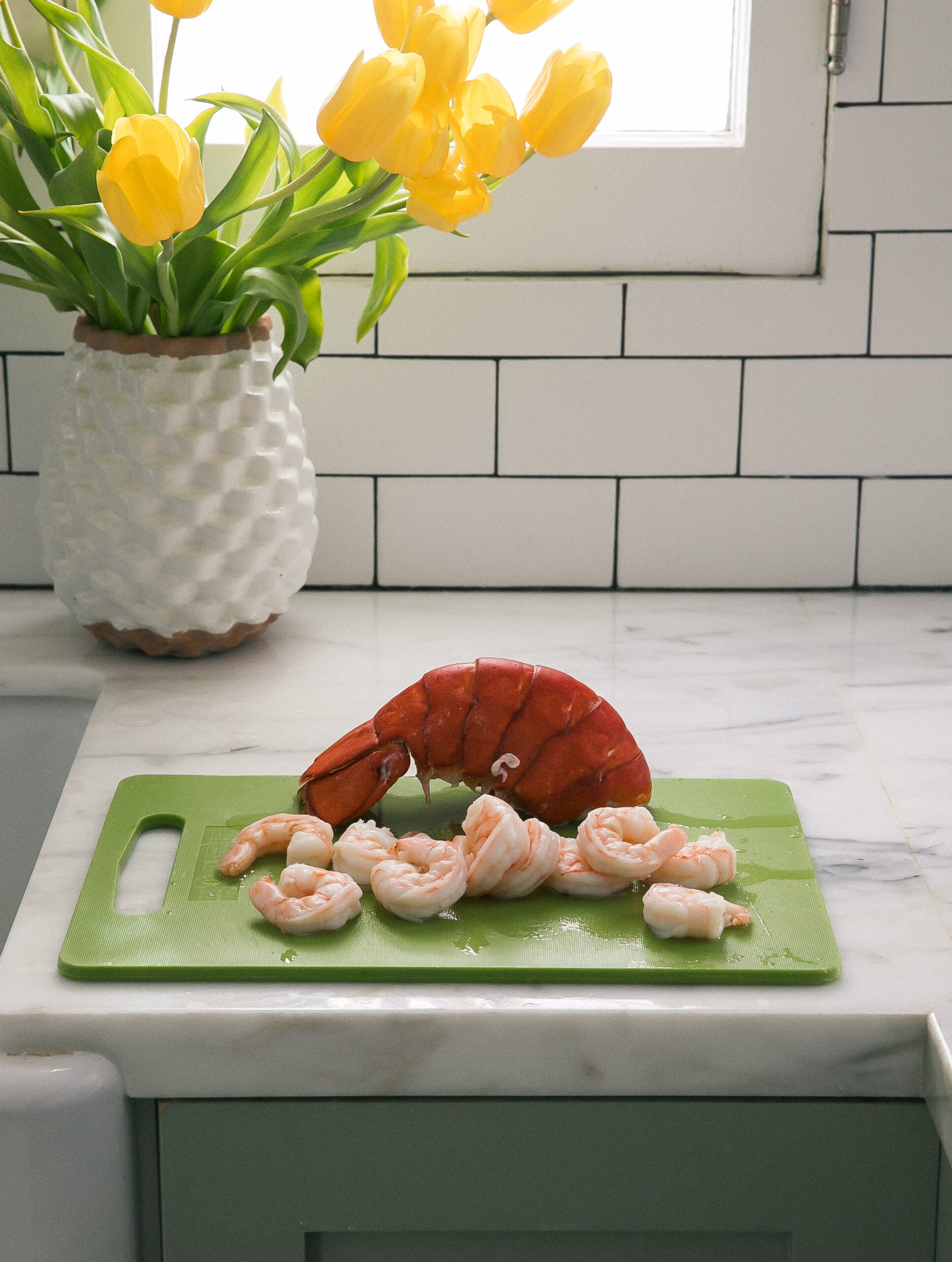 cooked lobster and shrimp