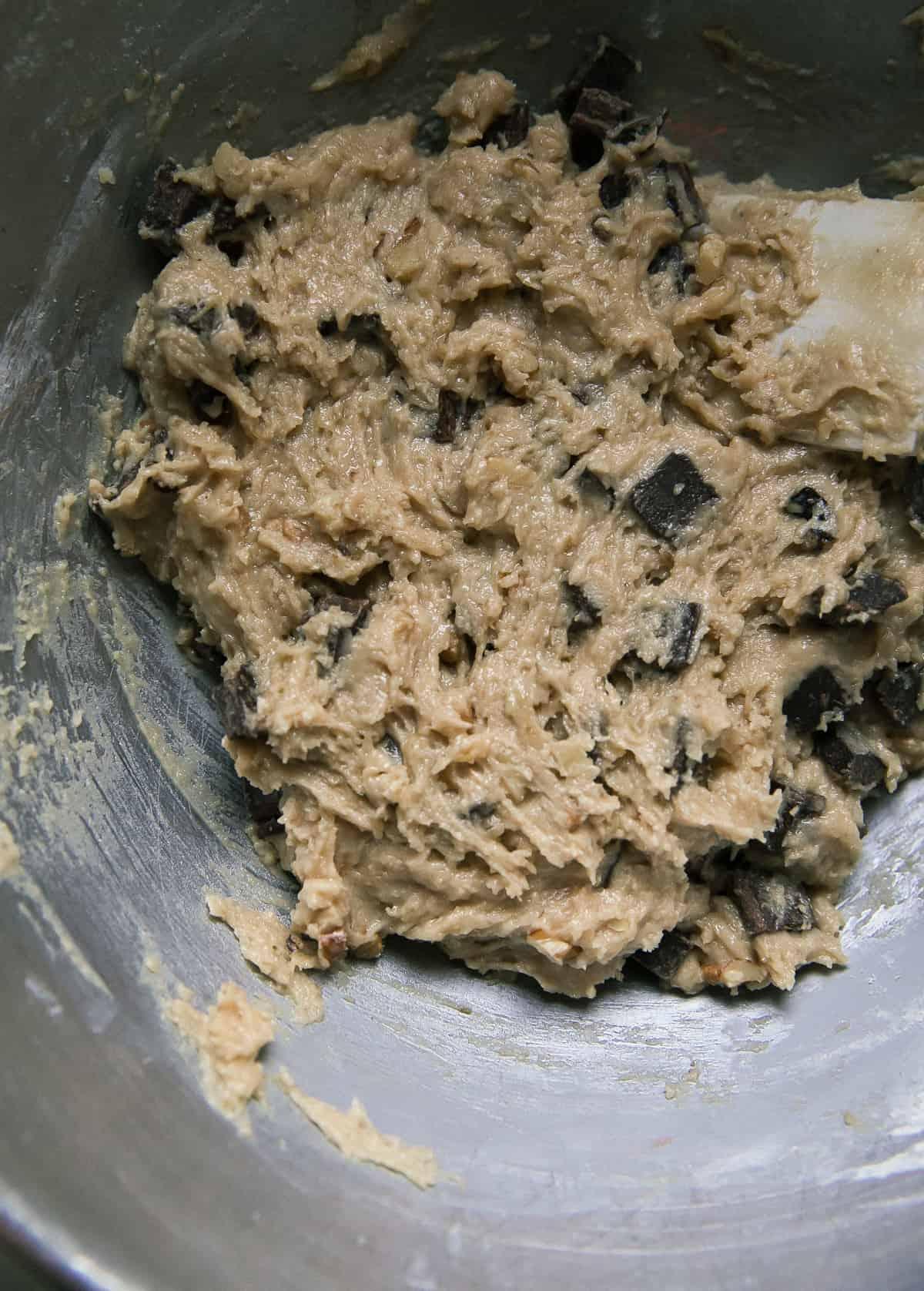 Dough for Banana Chocolate Chip Cookies
