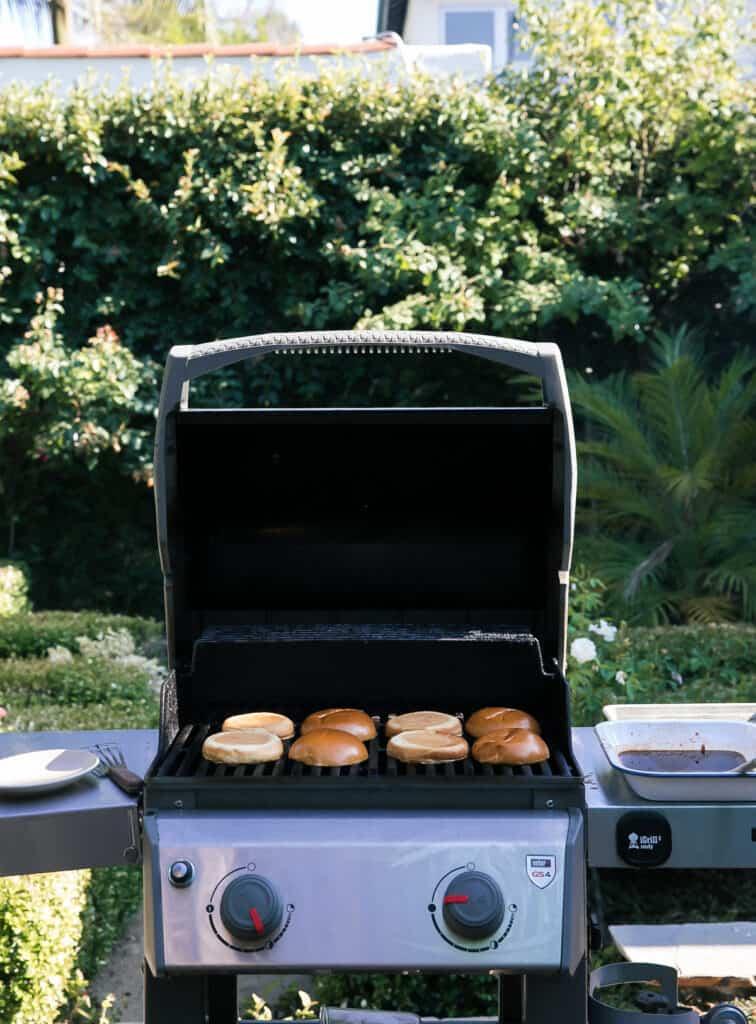 grilling buns!