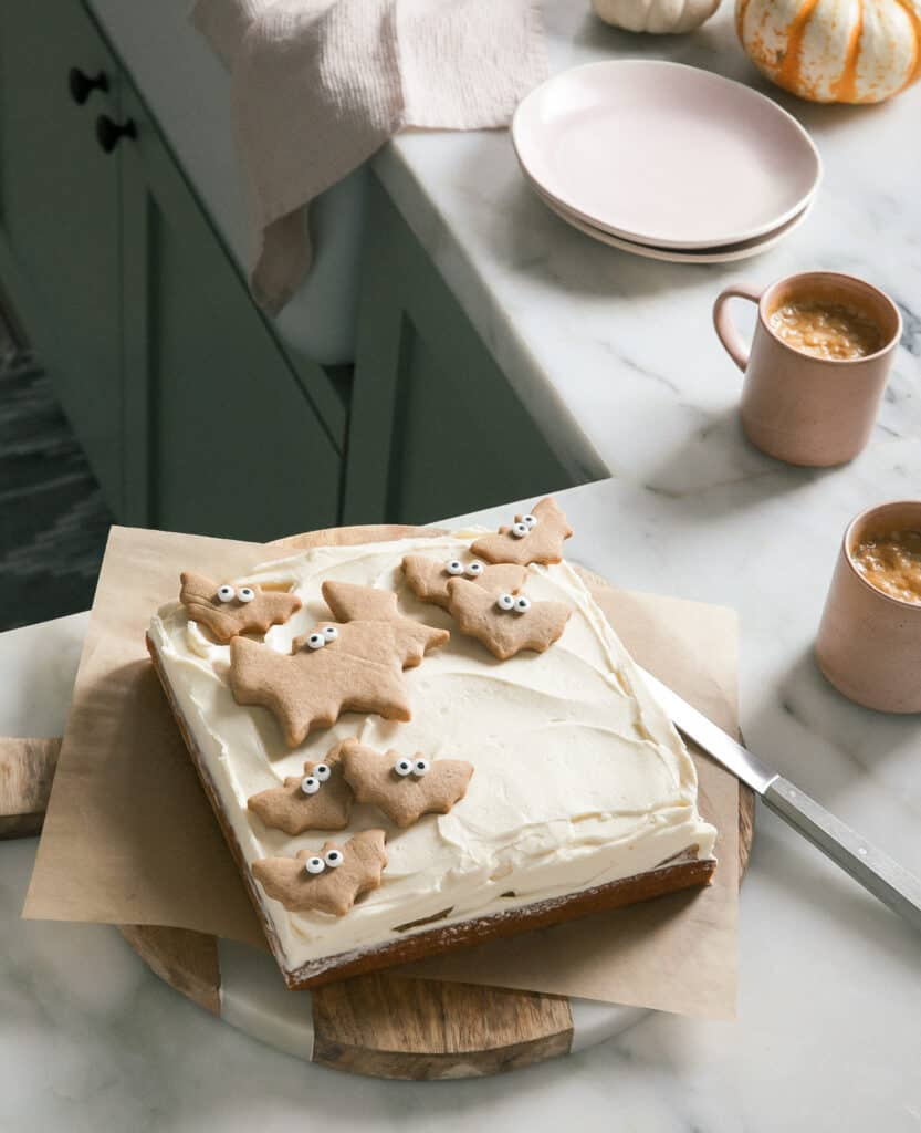Mini Brown Butter Sheet Cake with Maple Frosting