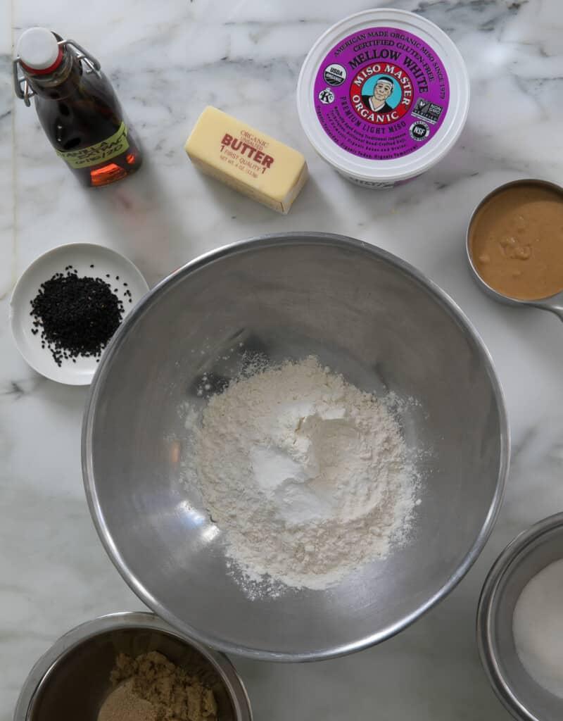 Miso Cookies Ingredients
