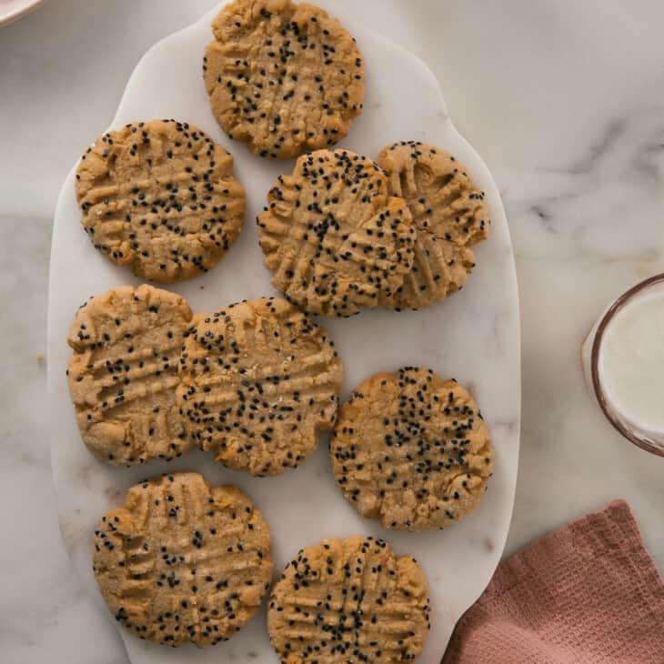 Miso Peanut Butter Cookie Dough overhead
