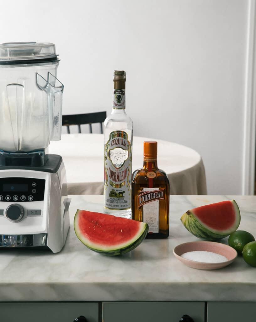 Ingredients for Watermelon Margaritas